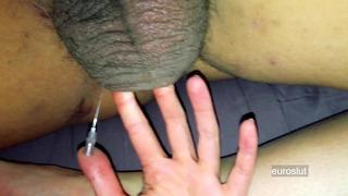 Boyfriend's Balls Receive A Needle, Sexy Hardcore Ball Kicking Nasty Tell