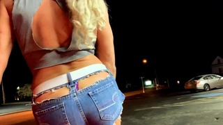 Fucking Extremely Sexy Transvestite Sissy Transsexual Babe Hoe in Public With Lustful Cutoffs!!