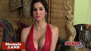 Cuban Tgirl Beauty Solo Teasing and Strip Show