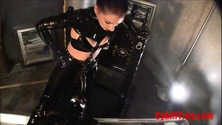 Strapon Fucked in Latex